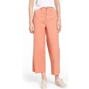 Madewell Emmett Wide Leg Crop in Dried Coral